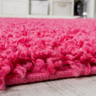 Runder Teppich Langflor Shaggy Hochflor Teppiche Pink Rund 67 cm AUSVERKAUF - Vorschau 2