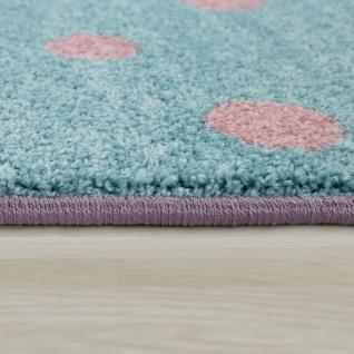 Kinderteppich Kinderzimmer Rosa Bunt Weich 3-D Patchwork Muster Bär Mond Sterne - Vorschau 2