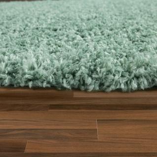 Shaggy Teppich Wohnzimmer Grün Hochflor Flauschig Weich Kuschelig Robust - Vorschau 2