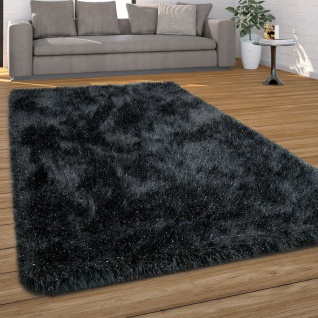 Hochflor Teppich Wohnzimmer Shaggy, Pastell Farben, Weicher Soft Garn, Einfarbig