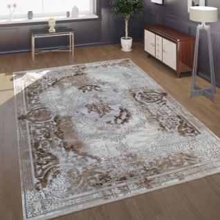 Wohnzimmer-Teppich Im Barock-Design Mit klassischen Vintage-Ornamenten In Beige