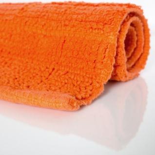Badematte Badteppich Badezimmerteppich aus Baumwolle Einfarbig in Orangev - Vorschau 2