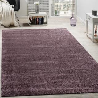 Designer Teppich Frieze Teppiche Luxuriös Schimmer Glanzeffekt Uni Pastell Lila - Vorschau 1