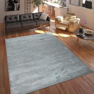 Designer Polyacryl Teppich Edel Modern Shabby Chic Used Look Abstrakt 3D Effekt Grau - Vorschau 1
