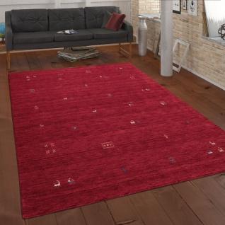 Teppich Rot Wohnzimmer Wolle Handgewebt Gabbeh Qualität Ethno Style Modern