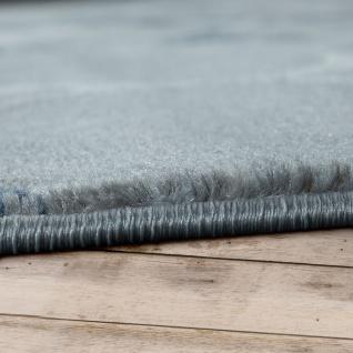 Kurzflor Teppich Modern Marokkanisches Muster Vintage Style Ombre Look Grau Blau - Vorschau 2