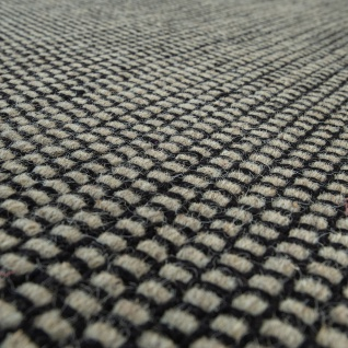 Handgewebter Teppich Flachgewebe Skandinavischer Look Meliert Webmuster In Grau - Vorschau 3