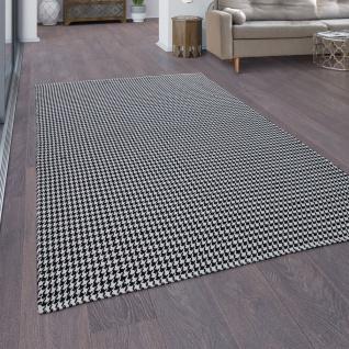 Baumwoll-Teppich, Handgewebtes Flachgewebe, Wendbar Orient-Design, Weiß Schwarz