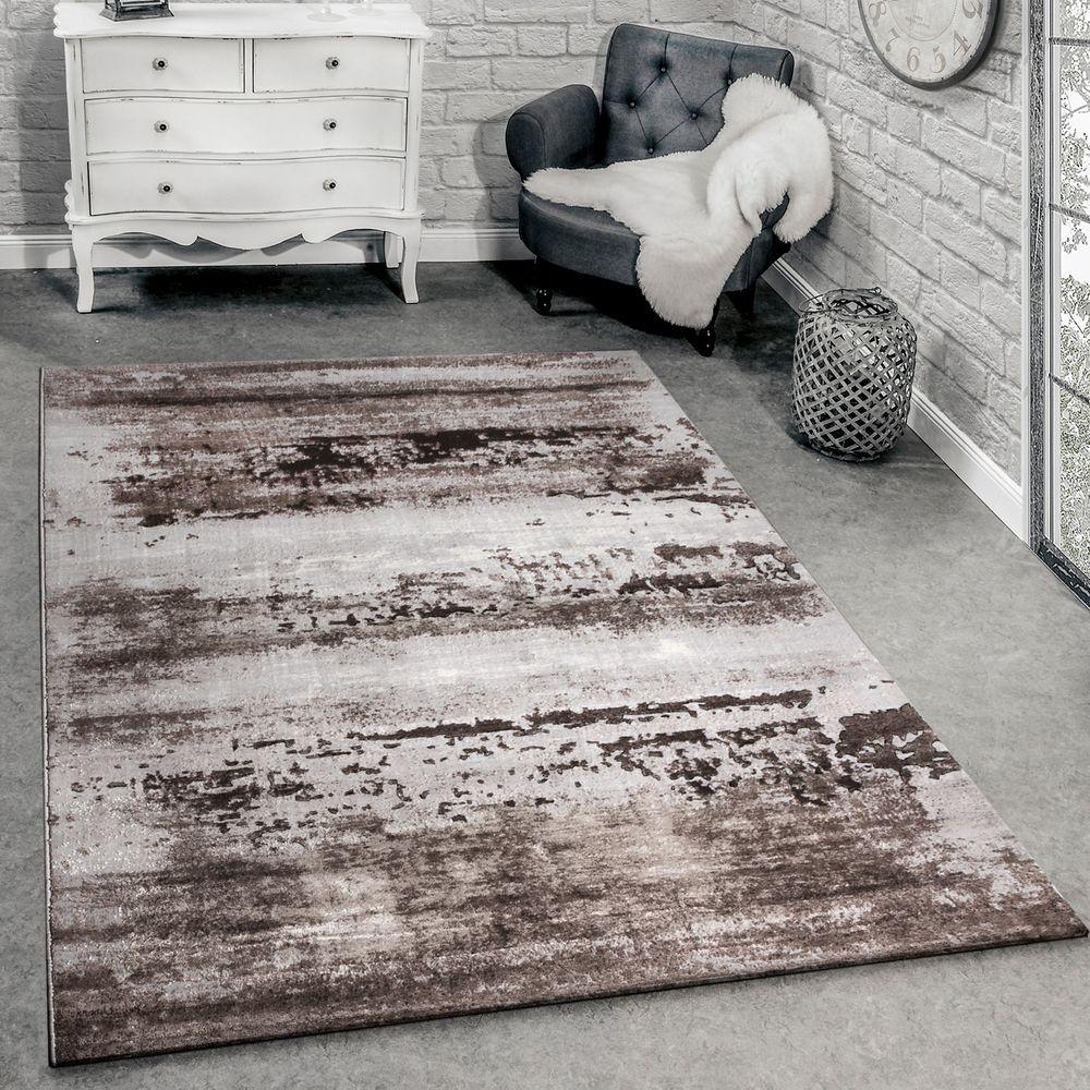 Designer Teppich Modern Wohnzimmer Teppich 3D Shabby Chic Design In Grau 1  ...