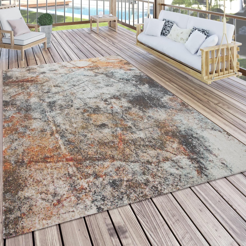 15+ In  & Outdoor Teppich Für Balkon Und Terrasse, Mit Vintage Muster, In Bunt Image