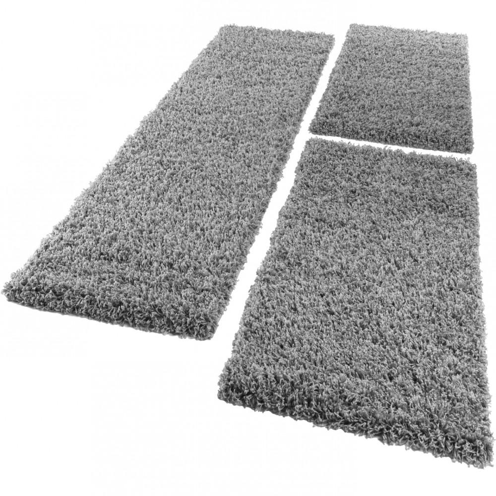Bettumrandung Laufer Shaggy Hochflor Langflor Teppich In Grau