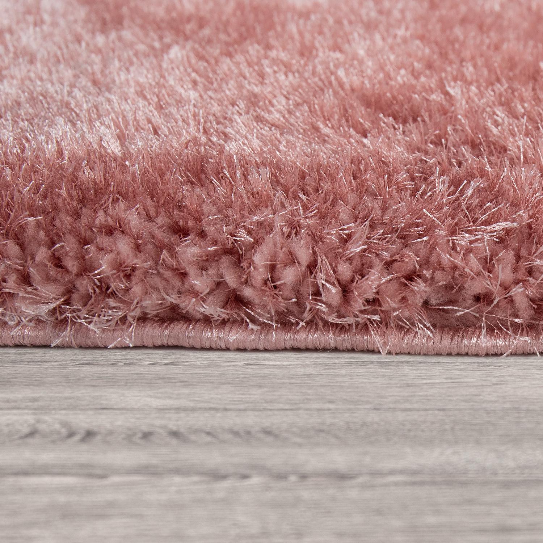 Teppich Rosa Flauschig.Wohnzimmer Teppich Rosa Pink Weich Shaggy Flauschig Abstrakt 3 D Muster Hochflor