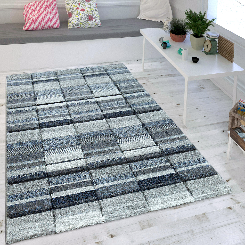 Wohnzimmer Teppich Modern Blau Grau Pastell Trend Skandinavisch Maritimer  Stil 1 ...