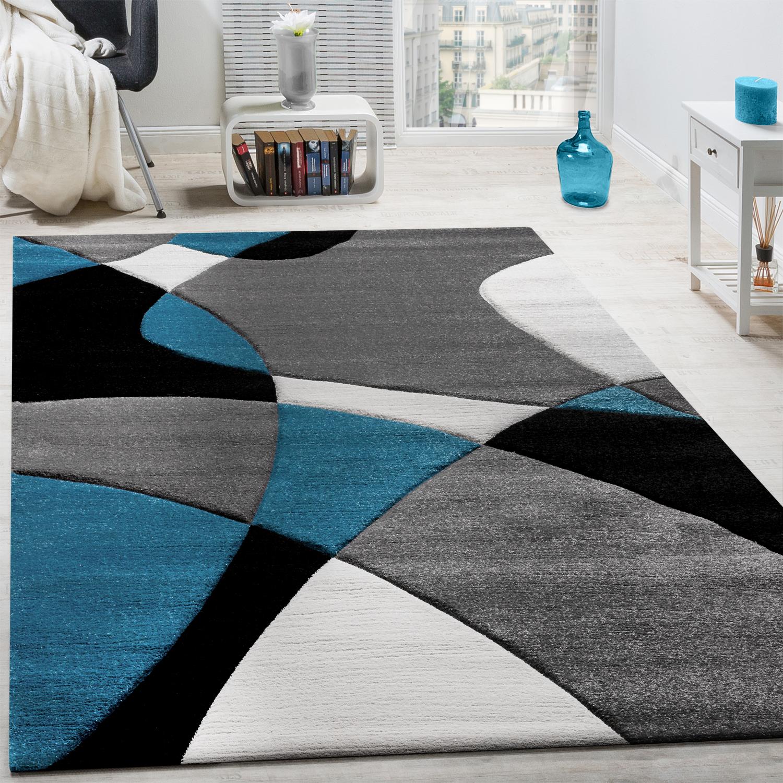 Designer Teppich Modern Geometrische Muster Konturenschnitt In