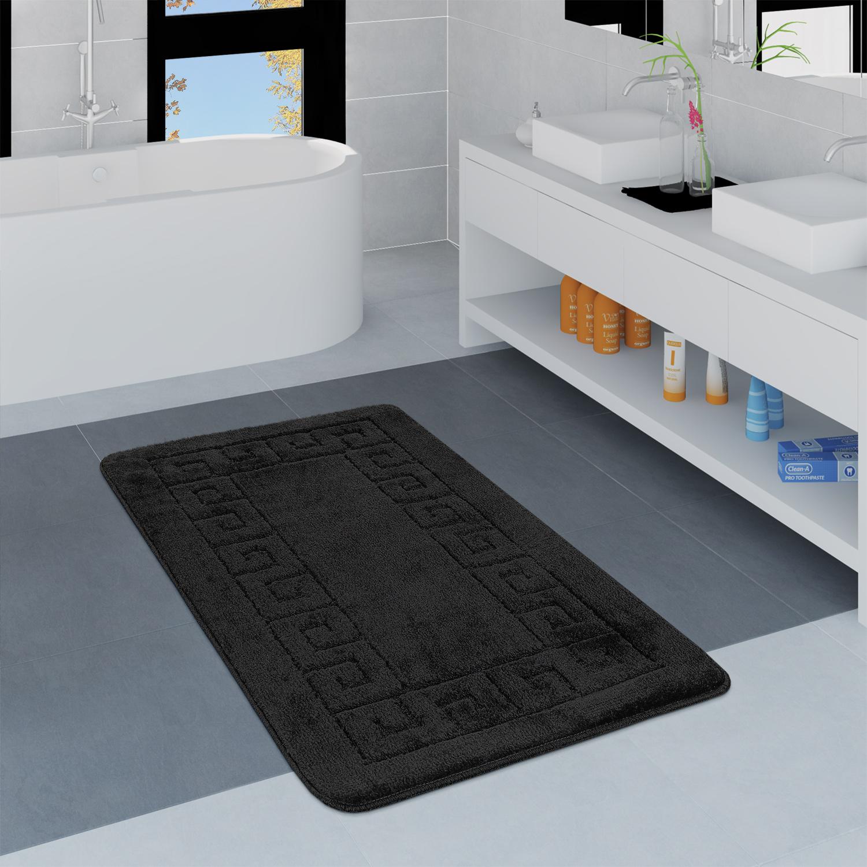 Moderner Badezimmer Teppich Bordüre Badvorleger Rutschfest Badematte ...