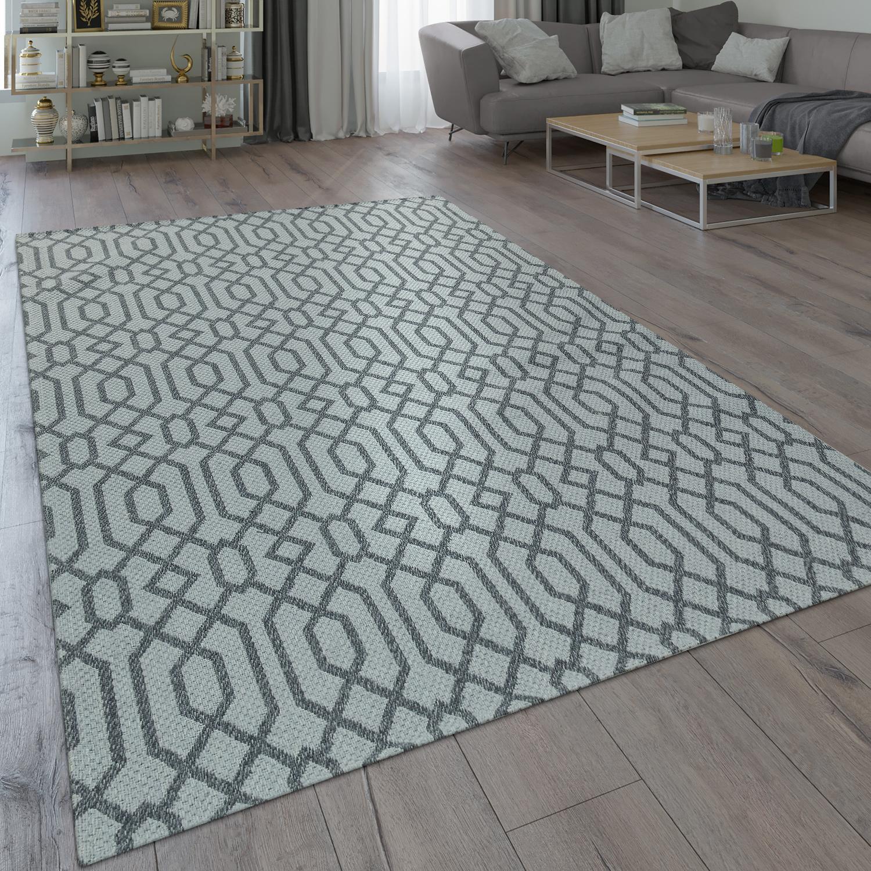 Beliebt Teppich Küche Grau Wohnzimmer Flur Flecht Muster Web Design Skandi CE57