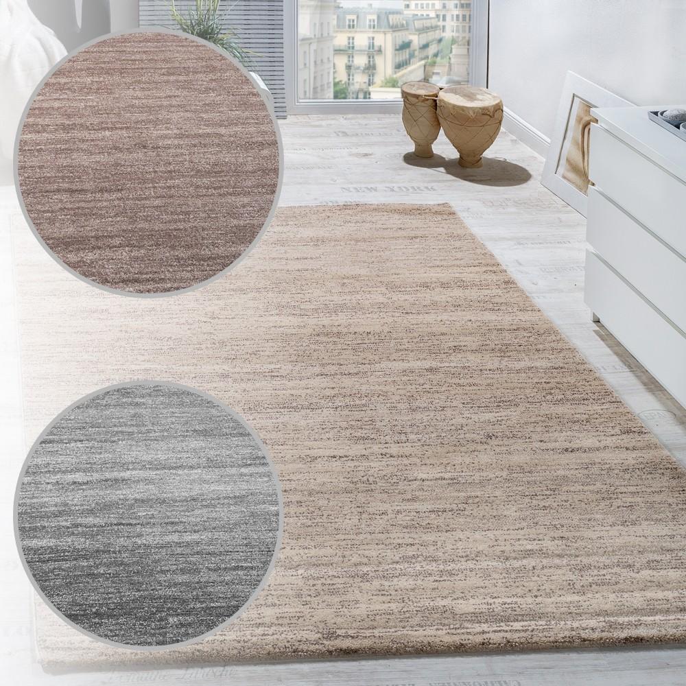 Teppich Modern Kurzflor Teppiche Wohnzimmer Preiswert Meliert In