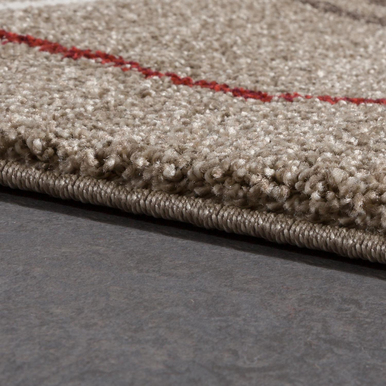 hochwertiger schwerer webteppich l ufer flur teppich beige creme rot ausverkauf kaufen bei. Black Bedroom Furniture Sets. Home Design Ideas