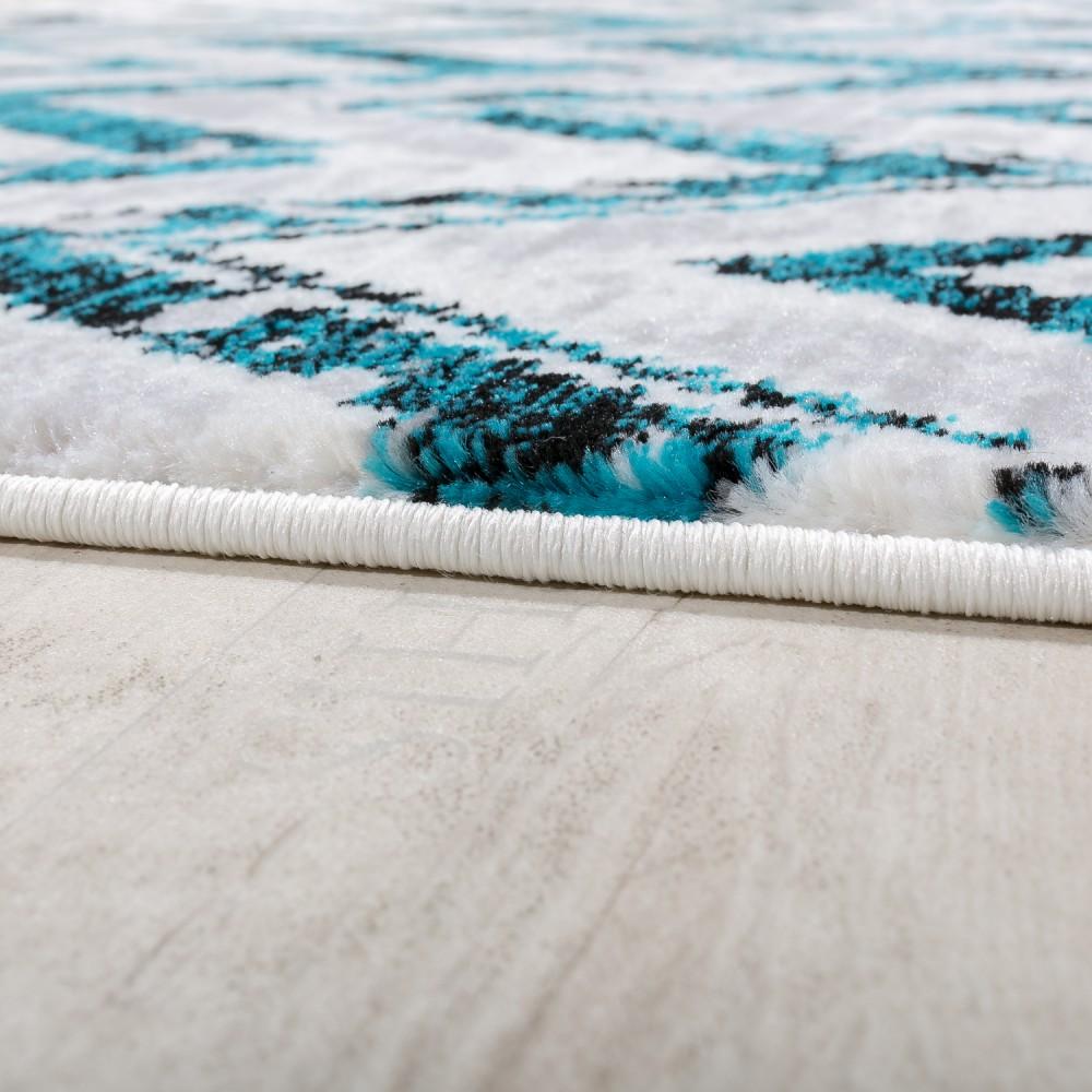 designer teppich wohnzimmer modern zick zack grau t rkis creme meliert kaufen bei diva teppich. Black Bedroom Furniture Sets. Home Design Ideas