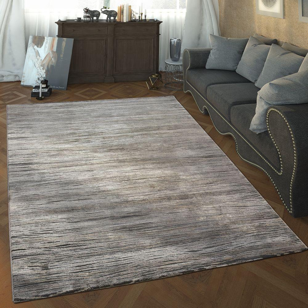 Designer Wohnzimmer Teppich Hoch Tief Struktur Wellen Muster Modern ...