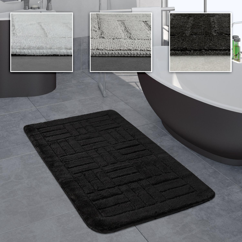 Teppich Badezimmer.Badezimmer Teppich Badvorleger Kariertes Muster In Versch Größen U Farben