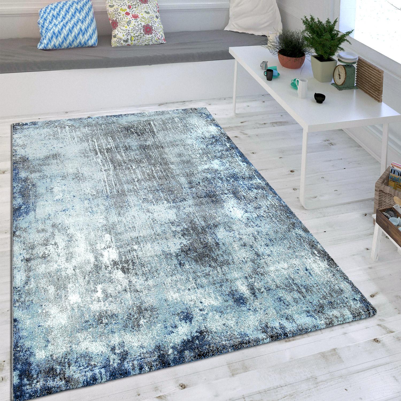 Wohnzimmer Teppich Indigo Blau Trend Modern Maritimer Stil Shabby Chic  Design 1 ...