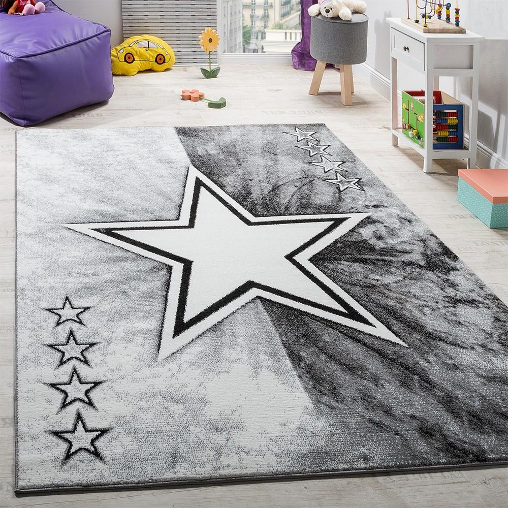 Teppich Kinderzimmer Stern Design Spielteppich Kinderteppich ...