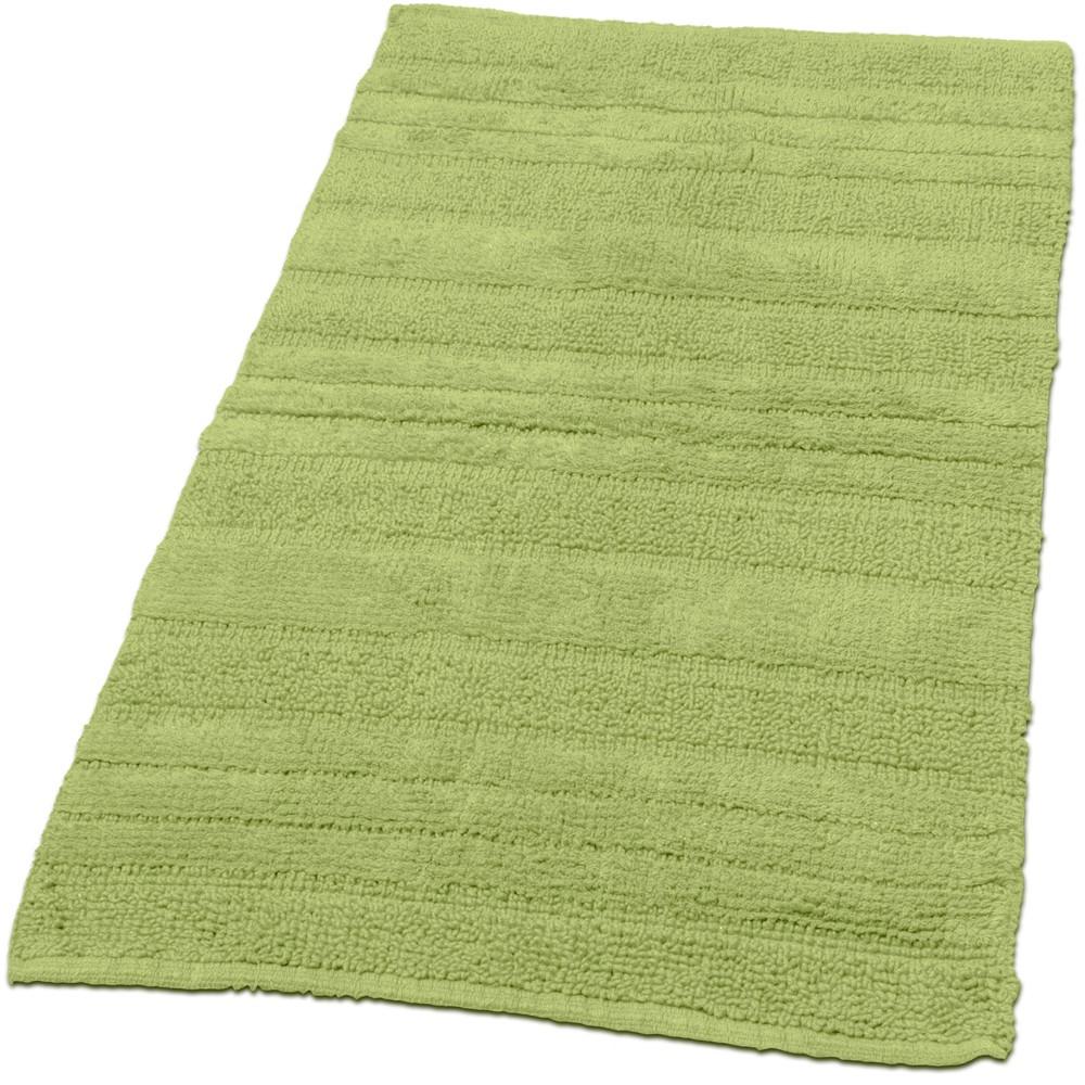 Badematte Badteppich Badezimmerteppich aus Baumwolle Einfarbig in ...
