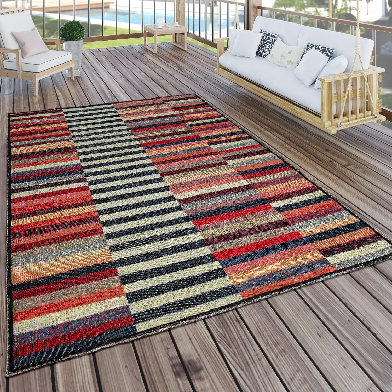 In Outdoor Teppich Modern Boho Muster Terrassen Teppich