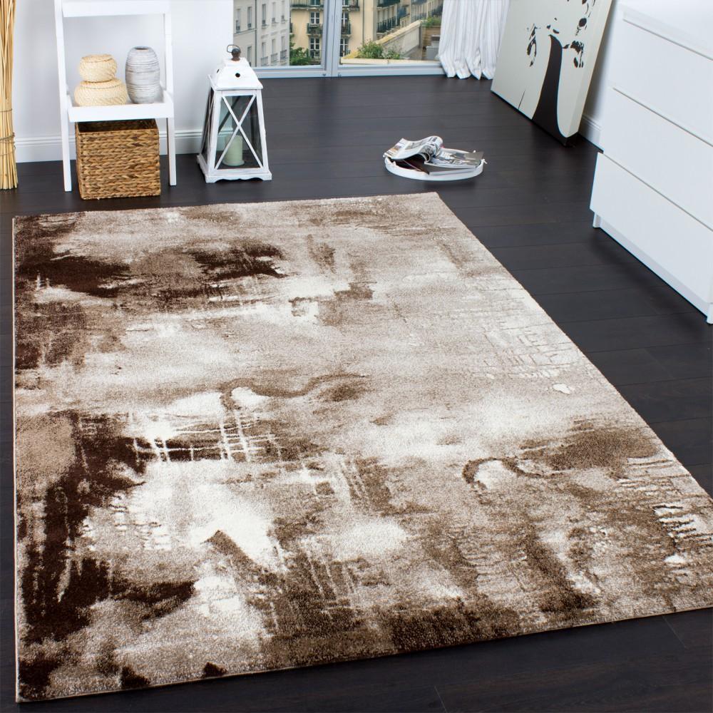 teppich modern designer teppich leinwand optik meliert braun beige creme meliert kaufen bei. Black Bedroom Furniture Sets. Home Design Ideas