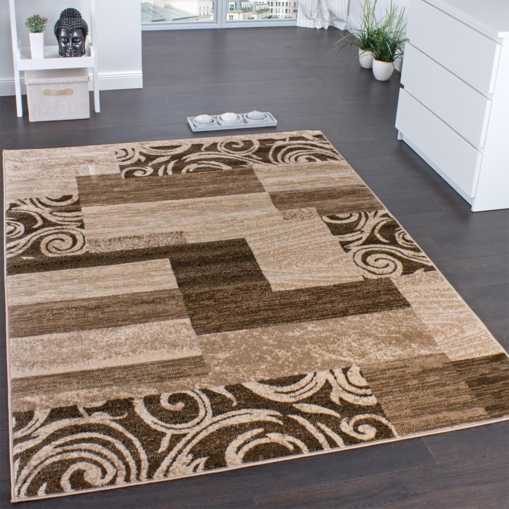 Teppich fur wohnzimmer  Designerteppich für Wohnzimmer Inneneinrichtung Teppich Meliert ...