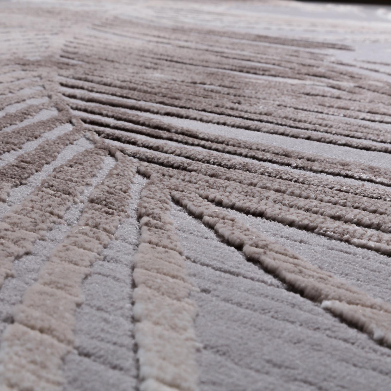 Designer Teppich Modern Wohnzimmer Teppiche 3d Palmen Muster In Grau