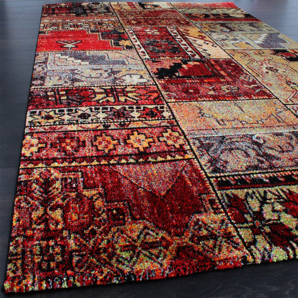 ... Teppich Modern Designer Teppich Patchwork Kilim Design Multicolour Grün  Rot Blau 2 ...