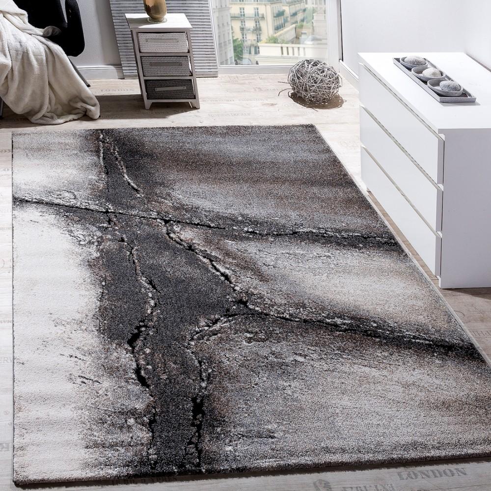 Edler Designer Teppich Wohnzimmer Natur Asphalt Optik Natur Braun Beige  Creme 1 ...
