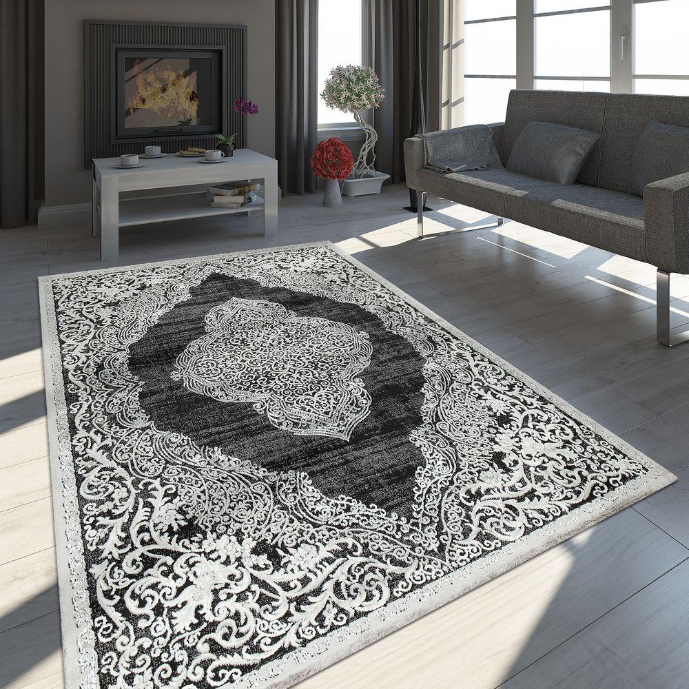 Wohnzimmer Teppich, Moderne Orient Vintage Muster, 3D Ornamente Mit  Glanz-Garn