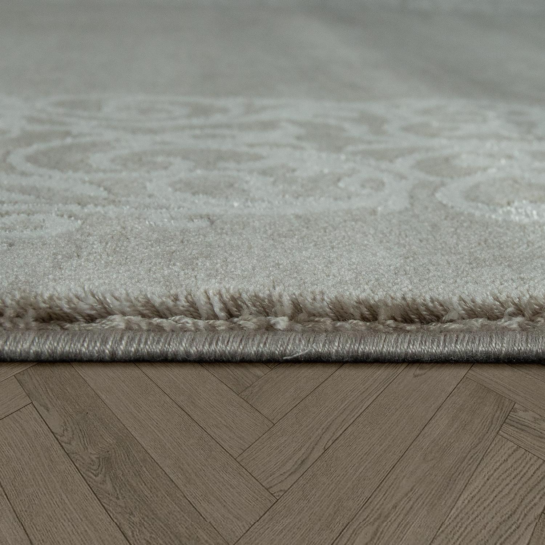 vintage acryl teppich florale muster hochwertig modern mit fransen in braun wei kaufen bei. Black Bedroom Furniture Sets. Home Design Ideas
