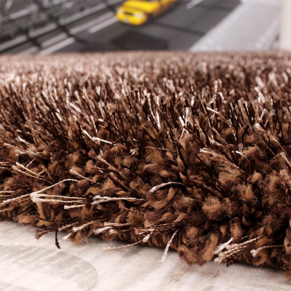 shaggy teppich hochflor langflor leicht meliert qualitativ u preiswert braun kaufen bei diva. Black Bedroom Furniture Sets. Home Design Ideas