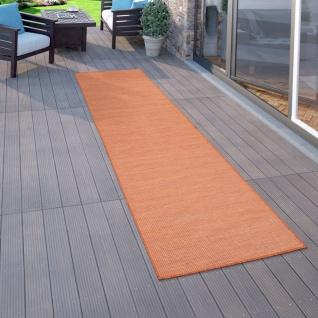 In- & Outdoor-Teppich Für Wohnzimmer, Balkon, Terrasse, Flachgewebe Terracotta - Vorschau 2