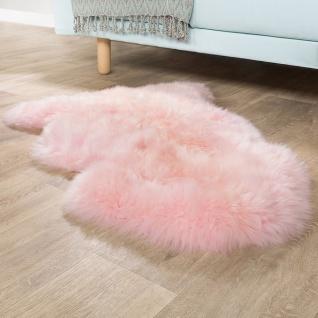 Australisches Lammfell Naturfell Bettvorleger Echtes Schaffell In Pastell Rosa