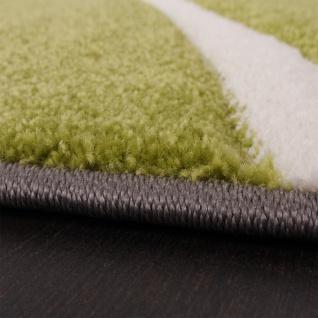 Bettumrandung Läufer Teppich Modern Karo Grün Grau Schwarz Weiss Läuferset 3 Tlg - Vorschau 2