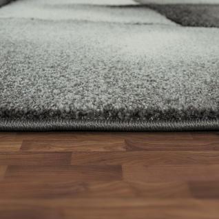 Designer Teppich Mit Konturenschnitt Moderne Muster Abstrakt Grau Türkis Meliert - Vorschau 2