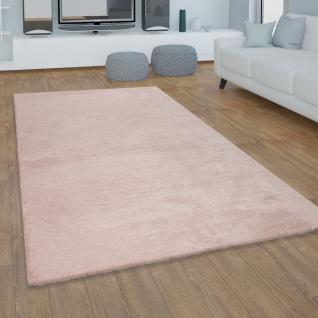 Teppich Wohnzimmer Kunstfell Plüsch Hochflor Shaggy Super Soft Waschbar In Pink