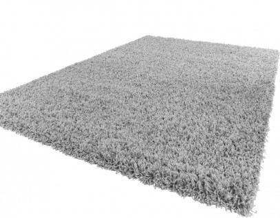 Shaggy Hochflor Langflor Teppich Sky Einfarbig in Grau
