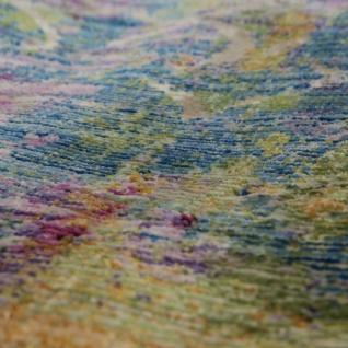 Designer Wohnzimmer Teppich Abstraktes Muster Pastellfarben Hochwertig Bunt - Vorschau 3
