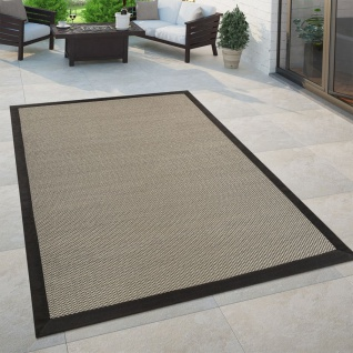In- & Outdoor Flachgewebe Teppich Modern Natürlicher Look Einfarbig In Braun