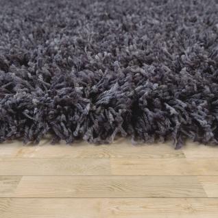 Hochflor Teppich Wohnzimmer Shaggy, Dunkel Grau Blau, Extra Langer Weicher Flor - Vorschau 2