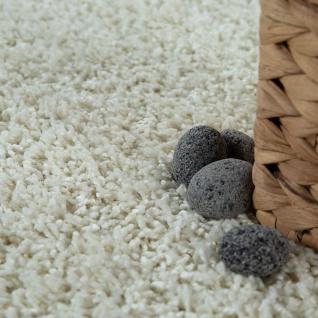 Moderner Badezimmer Teppich Einfarbig Hochflor Badteppich Rutschfest In Creme - Vorschau 3