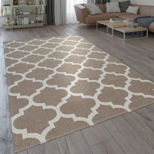 Teppich Wohnzimmer Orient Muster Marokkanisches Design Modern Beige Creme