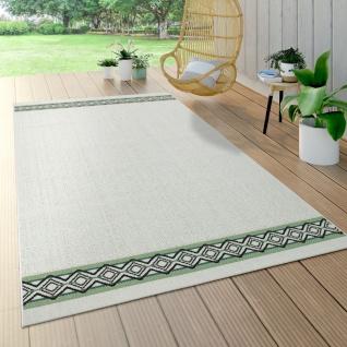 Outdoor Teppich Für Terrasse U. Balkon, Geometrisches Muster, Modern, Beige Grün