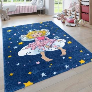 Kinder-Teppich Prinzessin Lillifee, Kurzflor Für Kinderzimmer, in Blau